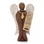 Anjel vyrezávaný z dreva - Láska - 15cm