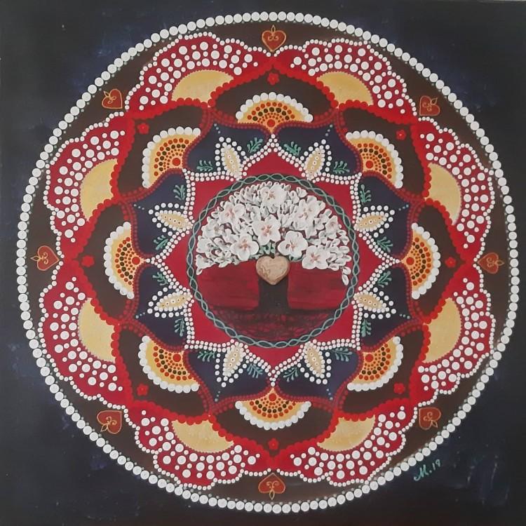 Mandala Strom Lásky - Jaspis